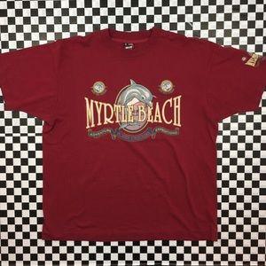 Vintage 1994 Myrtle Beach Save the Oceans Tee
